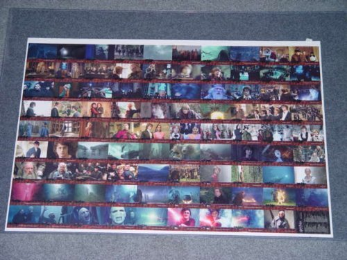(Harry Potter and the Goblet of Fire Uncut Sheet of Trading Cards with Daniel Radcliffe as Harry Emma Watson as Hermione Granger Rupert Grint Ron Weasley and Many more other Characters From the Movie HPcards2)