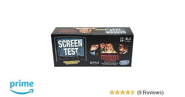 Hasbro Board Gaming Stranger Things Screen Test Card Game