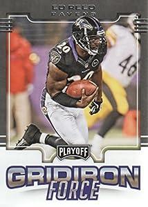 2017 Playoff Football Gridiron Force #19 Ed Reed Baltimore Ravens