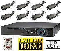 USG 1080p HD-SDI 8 Channel Kit: 1x 8 Ch DVR + 8x 2.8-12mm Bullet Cameras + 1x 2TB HDD *** High Definition CCTV Video Surveillance