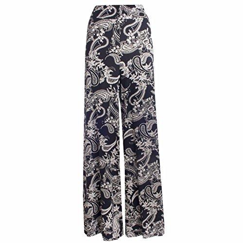 vase Paisley Size Femmes 54 imprims pantalon pantalons palazzo 36 Plus parallles Led Large 7FqBd