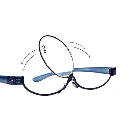 8199d9fdea09 Amazon.com: Adjustable Lens Cosmetic use Eyeglasses Eyeglasses Makeup  Reading Glasses Enlarged Folding Makeup Reading Glasses Women (2.0, Blue):  Health ...