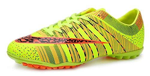 JiYe Pro-Sports Shoes Women's and Men's Jogging Walking Riding Running Shoes Cross-Training Racquet,Fashion Sneskers,Soccer shoes,Green,8US-Women/7US-Men