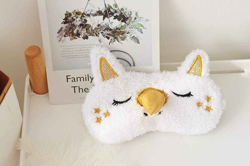 dressfan Mignon 3D moelleux masque pour les yeux des animaux pour dormir dormir respirant bande dessin/ée masque de sommeil bande dessin/ée enfants adultes femme