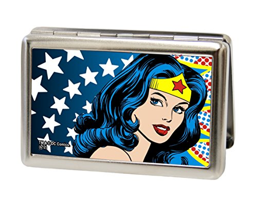 Buckle-Down Business Card Holder - Wonder Woman Face w/Stars - (Wonder Woman Face)