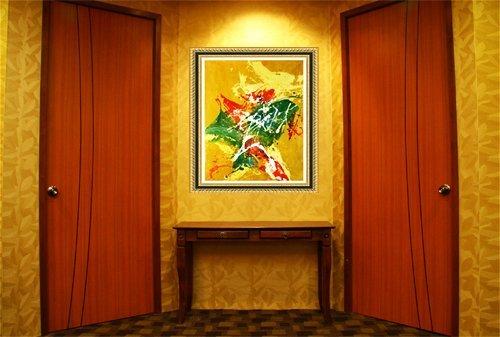 Amazon.com: Original Batik Art Painting on Cotton Fabric, \'Abstract ...