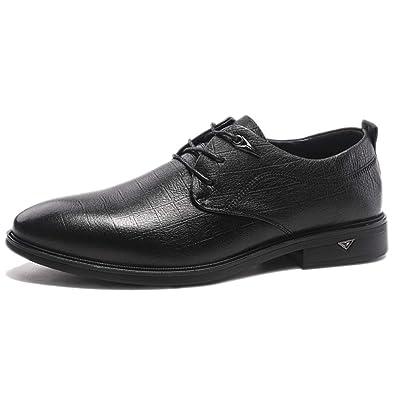 nihiug Herren Kleid Schuhe Schnürschuhe Mode Büro Herbst