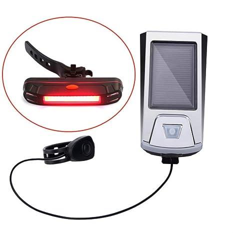 HUANGS Juego De Luces De Bicicleta, Recargable por USB/Carga Solar ...
