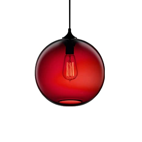 Newrays Modern Hanging Globe Glass Shade Pendant Lighting Fixtures - Kitchen pendant lighting amazon