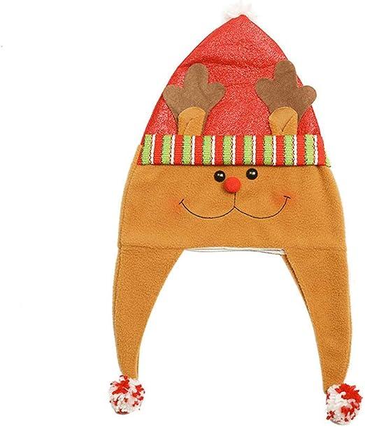 Happyyami sombrero de reno de navidad sombrero de navidad ...