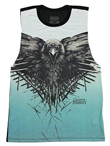 Game Of Thrones Raven Sublimation Girls Muscle Top Size : Medium