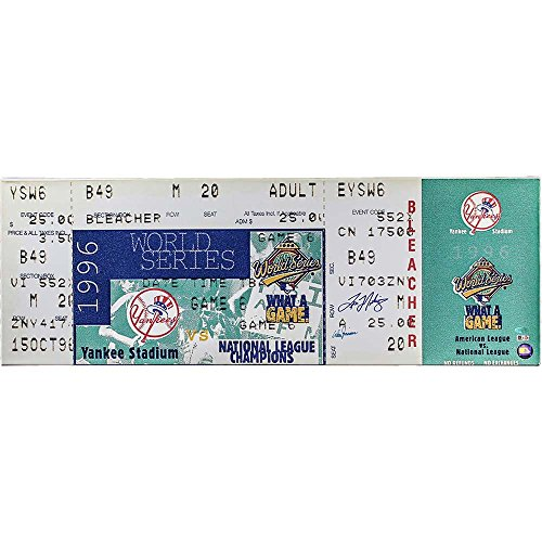 Tino Martinez/Don Zimmer Signed 1996 World Series Mega Ticket (Project)