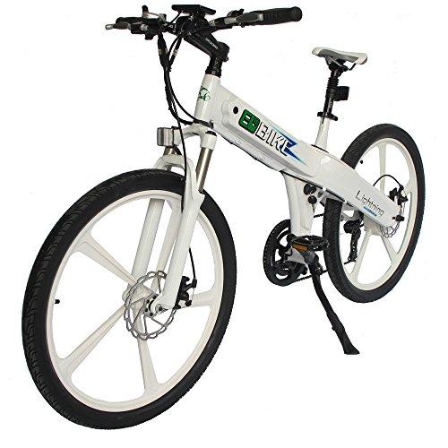 E-go White New Electric Bike Matt Electric Bicycle Mountain 500w Lithium Battery City Ebike by EGO BIKE