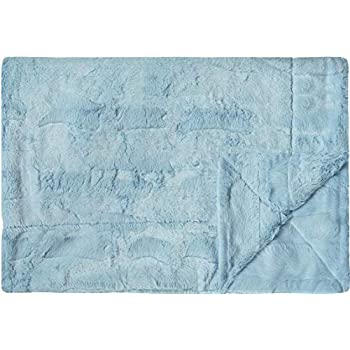 Image of Baby Minky Couture Premium Solid Color Blanket - Soft, Warm, Cozy, Comfortable, (Monster, Sorbet Powder Blue)