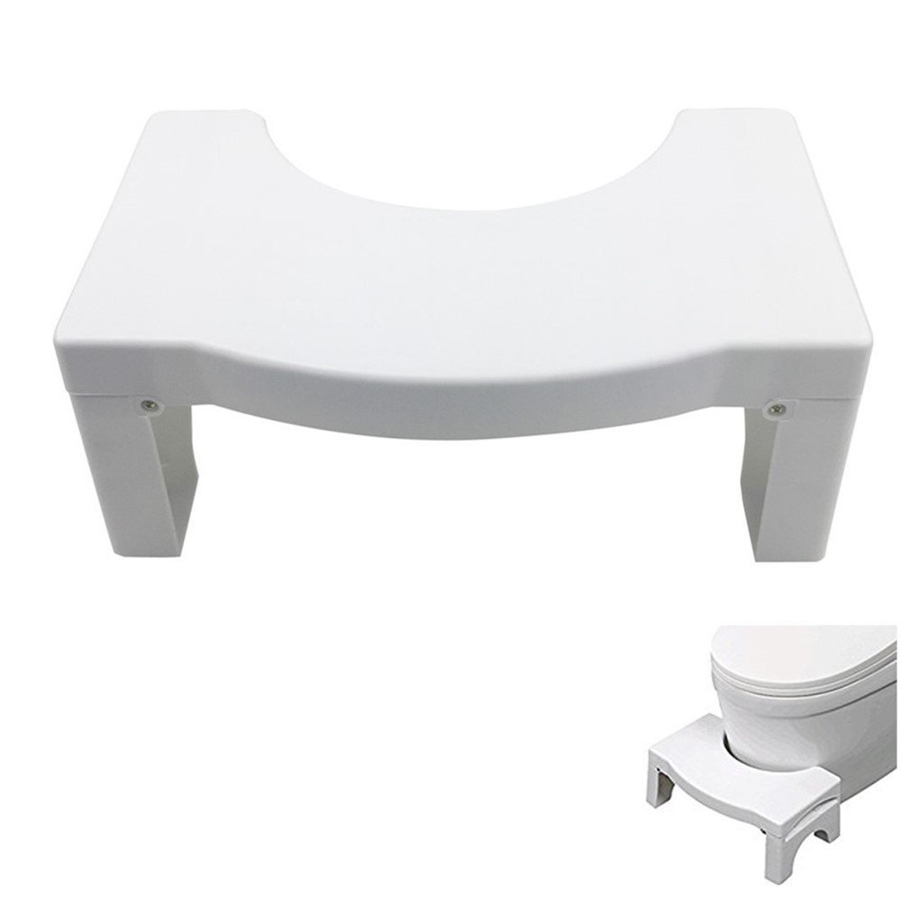 Clever Bear Non-Slip Toilet Foot Stool Folding Stool Toilet Stool Step Footstool for Constipation Piles Relief