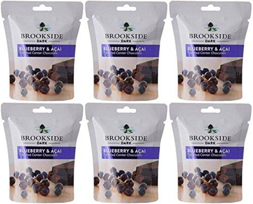 Hershey's Brookside Dark Chocolate, Blueberry and Acai, 33.3g – Pack of 6, x 33 g