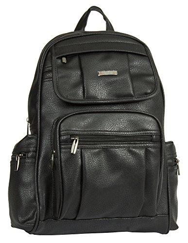 Medium Handbag Shoulder 2 Big Backpack Rucksack Bag Black Shop Unisex Leather Vegan Design Size z0qdAwx
