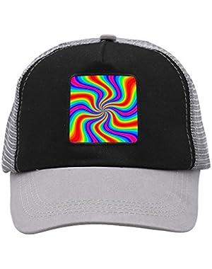 Unisex Sparkling Rainbow Adjustable Classic Hiphop Hat Baseball Cap Snapback Dad Hat