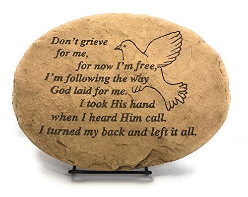 Kay Berry Don't Grieve for me for Now I'm Free; Dove; Memorial Stone Sympathy Gift: 10