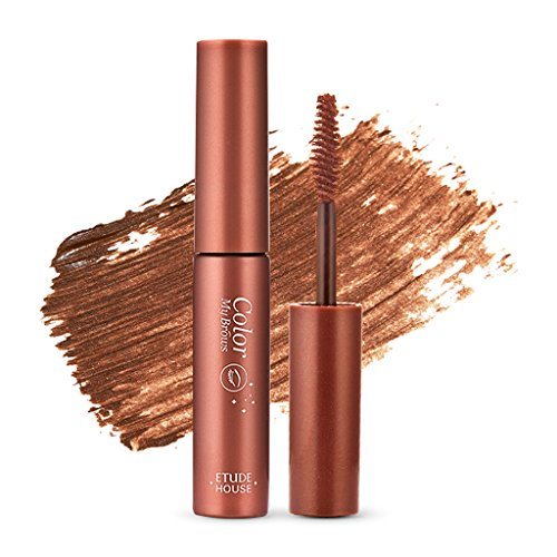 ETUDE HOUSE Color My Brows 4.5g #3 Red Brown - Eyebrow Mascara, Natural Eyebrow Makeup