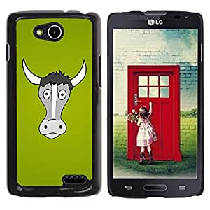 LECELL -- Funda protectora / Cubierta / Piel For LG OPTIMUS L90 / D415 -- Funny Horned Cow Bull --