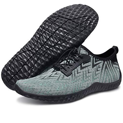 Centipede Demon Diving Surf Water Shoes Quick Dry Barefoot for Swim Sports Beach for Men Light Green Women 9.5 M/Men 7.5 M