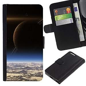 All Phone Most Case / Oferta Especial Cáscara Funda de cuero Monedero Cubierta de proteccion Caso / Wallet Case for Apple Iphone 6 PLUS 5.5 // Saturn View Space Art Alien Planets Cosmos