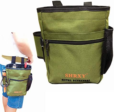 shrxy Metal Detecting Finds Bag Waist Digger Pouch Tools Bag for PinPointer Garrett Detector Xp ProPointer Accessories Green