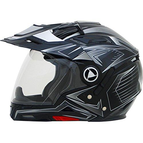 AFX FX-55 Unisex-Adult Full-Face-Helmet-Style 7-In-1 Helmet (Multi Black, Large)