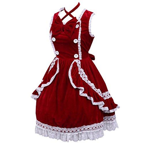 50er Kleider Lolita Vintage Damen Frauen Rot Cocktail Partiss Neckholder Kleid 60er Rockabilly Abschlussball Retro q0TEg