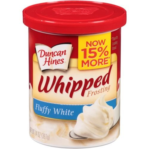 Duncan Hines Whipped Fluffy White Frosting, 14 Ounce - 8 per case.