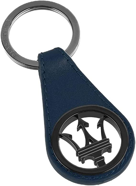 Maserati Porte-cl/és Trident en Argent Bleu