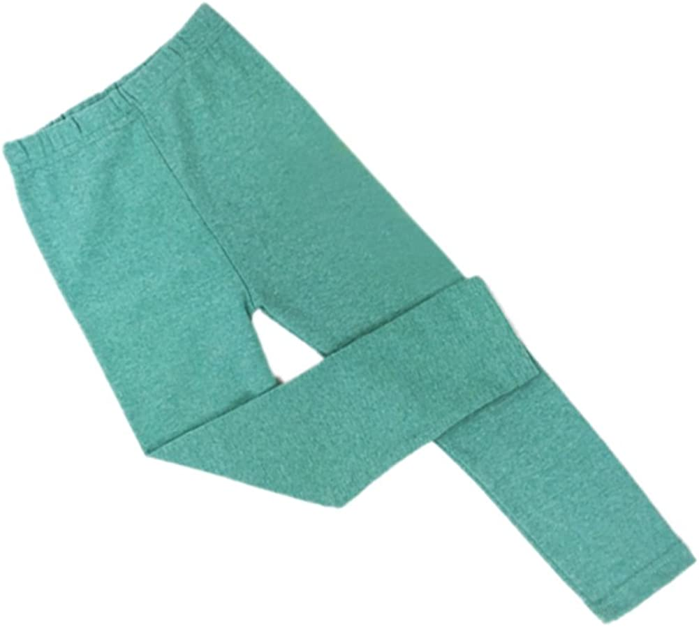 Daxin Baby Girls Solid Color Tight Bottoms Slim Warm Pant Size 2-7Y Green