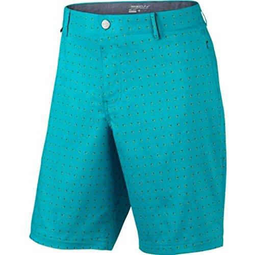 Nike Modern Fit Print Herren Shorts Azul / Naranja / Gris