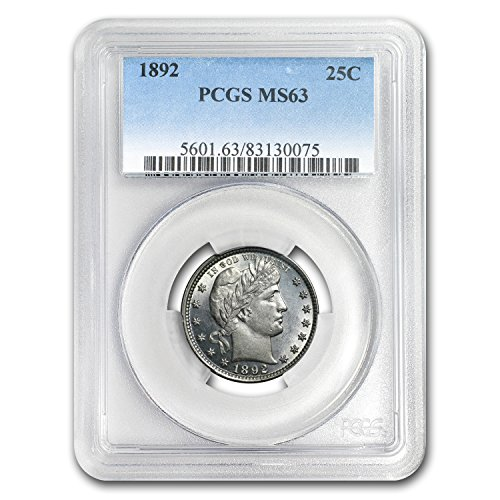 1892 Barber Quarter MS-63 PCGS Quarter MS-63 PCGS