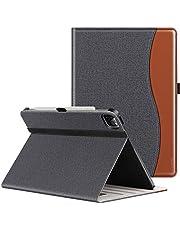 ZtotopCases Case voor nieuwe iPad Pro 12.9 Case 2021, Premium Lederen Folio Stand Case Smart Cover met Auto Sleep/Wake, Meerdere Bekijken, voor 2021 iPad Pro 12.9 Inch 5e Generatie - Denim Zwart