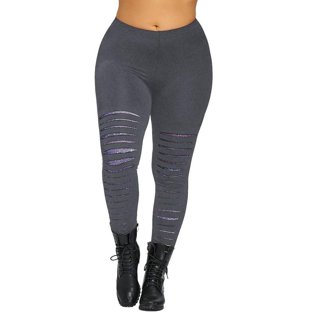 Pantalones Mujer Pantalones De Yoga Plus Leggings Moda Mujer ...