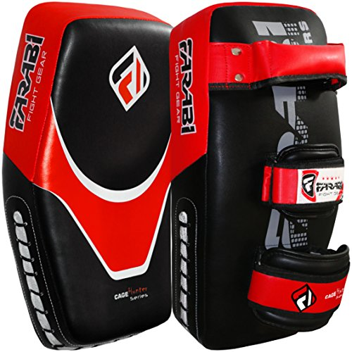 Farabi kick shield thai pad MMA muay thai Shield Curved Pads martial art training pads Boxing Strike pad Curved Arm Pad MMA Focus pad Muay Punch Shield ()