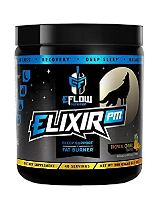 ELIXIR PM R.E.M. Sleep + Fat Burner Flavored Powder. Sleep Aid, Thermogenic, GABA, Melatonin, 5-HTP, L-Carnitine.