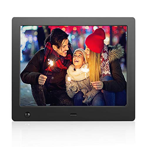 Flyamapirit Digital Picture Frame 8 inch Electronic Digital Photo Frame with High Resolution...