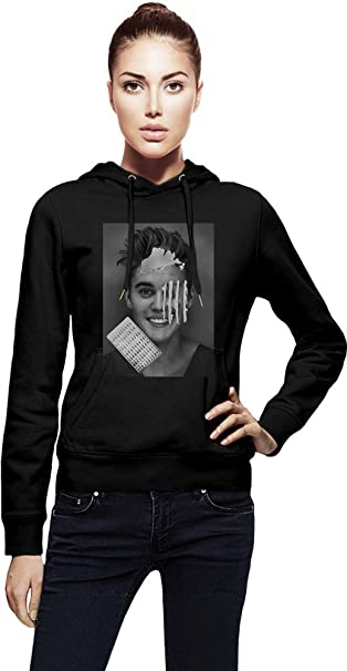 Justin Bieber Cocaine Mujeres sudadera con capucha Women Jacket with Hoodie Stylish Fashion Fit Custom Apparel By Genuine Fan Merchandise X-Large: ...