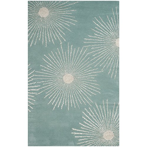 (Safavieh Soho Collection SOH712T Handmade Fireworks Light Teal and Multicolored Premium Wool Area Rug (2' x)