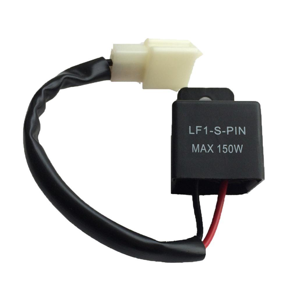 MonkeyJack 12V Motorcycle Electronic LED Flasher Relay Fix Turn Signal Light Hyper Flash