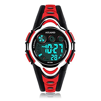 AZLAND Waterproof Swimming Frozen Sports Watch Boys Girls Led Digital Watches for Kids,Rubber strap by AZLAND