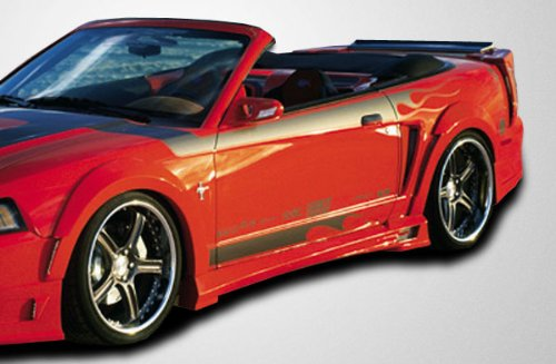 Couture 104784 1999-2004 Ford Mustang Couture Urethane Demon Side Skirts Rocker Panel Demon Side Skirt Accessories