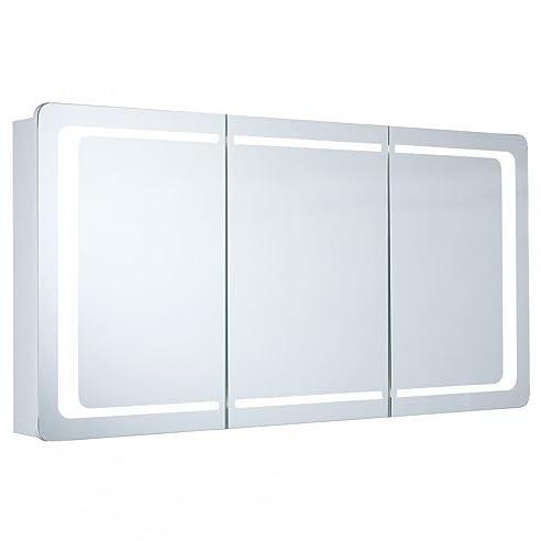 Spiegelschrank Galdem Round120 / Badezimmerschrank 120Cm / 3 Türig