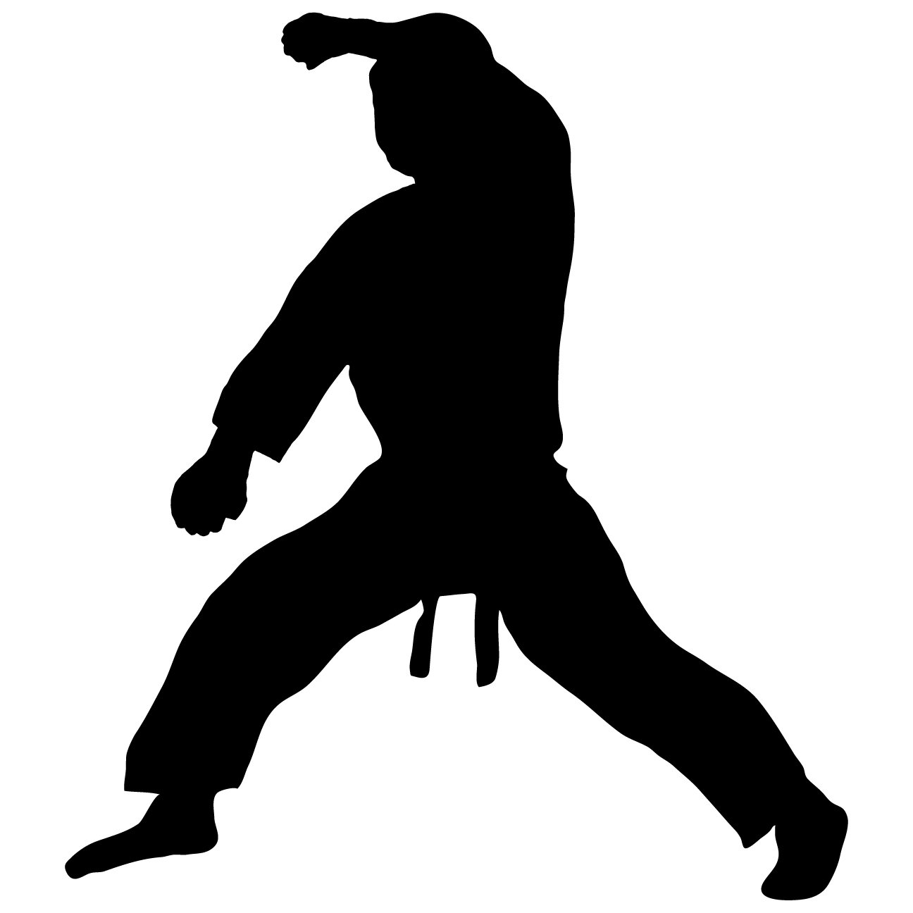 Martial Arts Wall Decal Sticker 18 - Decal Stickers and Mural for Kids Boys Girls Room and Bedroom. Karate Sport Wall Art for Home Decor and Decoration - Martial Art Kung Fu Taekwondo Silhouette Mural