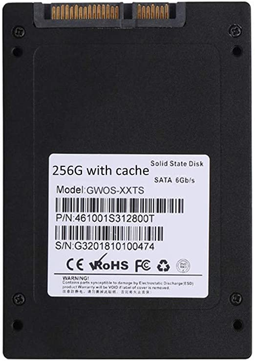 HWENJ SSD 256GB 3D NAND TLC Cache Performance Boost 2.5