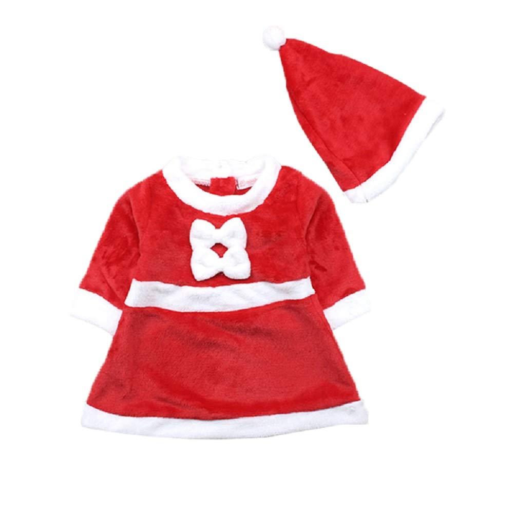 Lee Little Angel Navidad niñas recién Nacidos Dress + Hat 2 Piezas Conjunto HYNV-171018