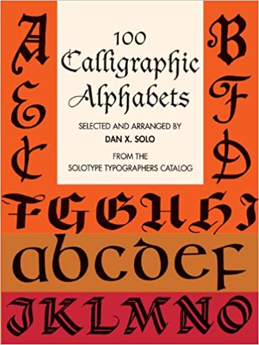 elegant display alphabets lettering calligraphy typography
